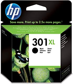 HP 301XL Black Ink Cartridge - Cartucho de Tinta para