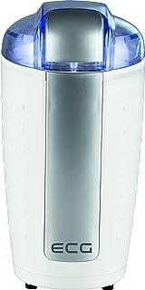 ECG KM 110 elektrisk kaffekvarn, rostfritt stål, vitt silver