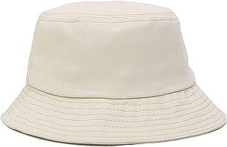 Sombrero de Pescador Unisex Diseño Liso Sombrero de Pescador de Material Cómodo Los Colores en Blanco y Negro Son Todos Casquillos Disponibles para Usar con Ropa Casual Sombrero Adumbral Sombreado al
