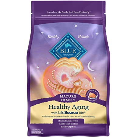 Blue Buffalo Healthy Aging Natural Mature Dry Cat Food for Senior Cats, Chicken & Brown Rice