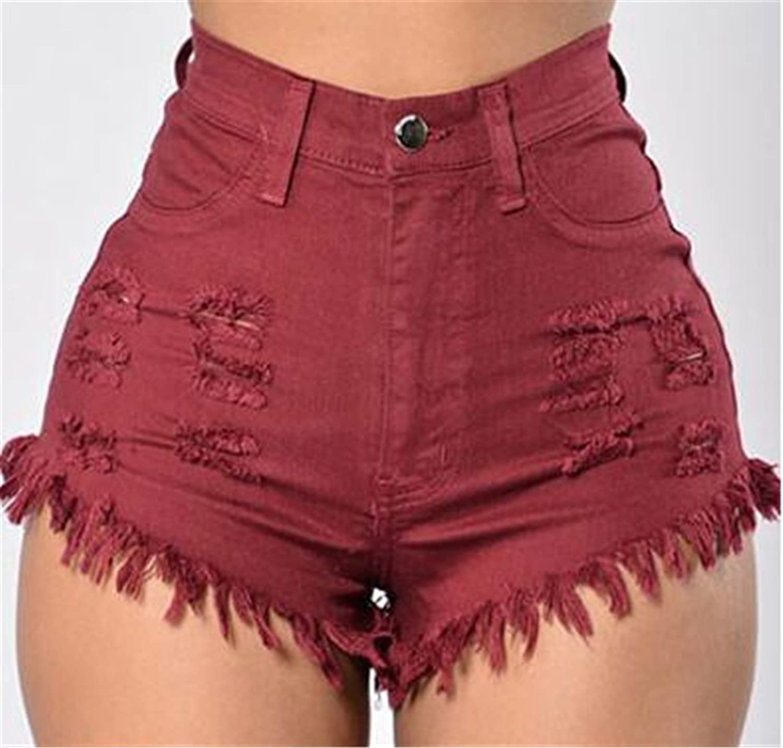 Summer Women Shorts Fashion High Waist Elasticity Feminine Denim Shorts Solid Sexy Plus Size Lady Shorts