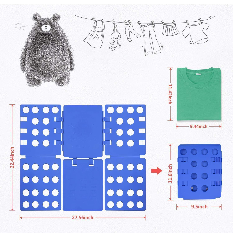 Doblador de Camisetas Camisas Ropa Adulto Infantil-Tabla para Doblar Ropa 57 * 70cm Azúl Plegar Camisetas Camisas Ropa: Amazon.es: Hogar