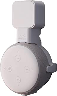 The Dot Genie   Amazon Echo Dot 3rd Gen Wall Mount   The Original Outlet Hanger   No Muffled Sound   Exposed Speaker Grill, Mics, and Lights   Designed in USA (White, 1-Pack)