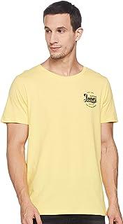 Jack & Jones Men's Solid Slim fit T-Shirt (2191210008_Lemon Drop L)