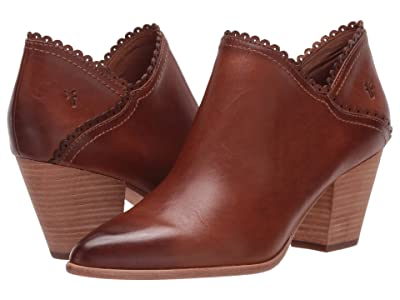Frye Reed Scallop Shootie (Caramel Antique Pull Up) Women