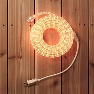 NOMA Rope Lights | 30 Ft Plug-in, Connectable, Indoor/Outdoor, Waterproof | Ideal for Christmas, Holiday, Deck, Patio, and Backyards | UL Certified, Warm White