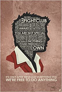Autographed Fight Club,It's ONLY After We've Lost Everything Art Print Signed by Artist Stephen Poon