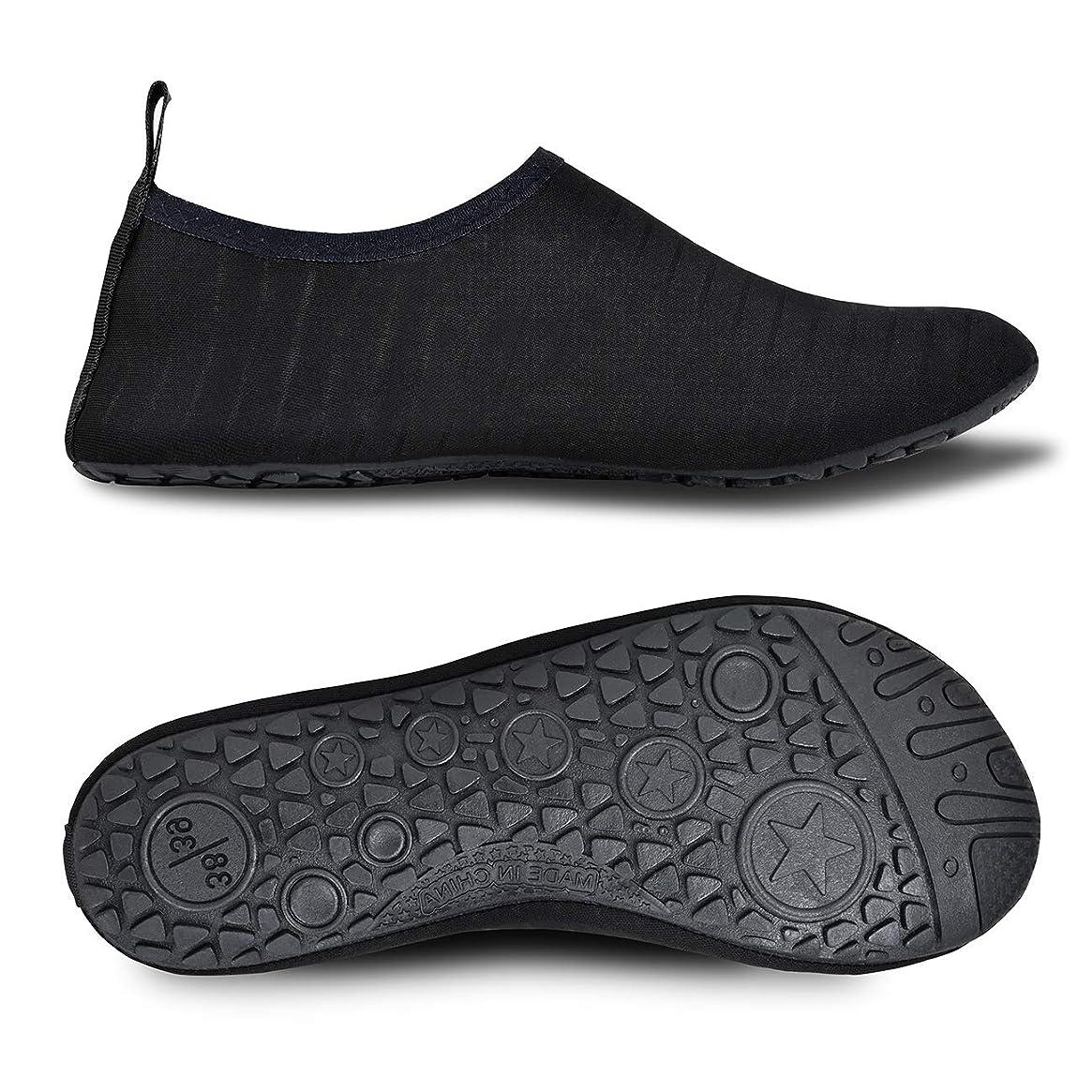 MET520 Men Women Water Shoes Quick-Dry Aqua Socks Barefoot?Slip-on for Sport Beach Swim Surf Yoga Exercise