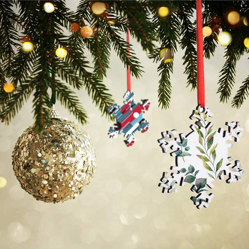 MDF Personalized Sublimation Pendant Blank Bulk 2020 Christmas Ornaments Discs Supplies for DIY Christmas Tree Decor 10 Pieces Sublimation Blanks Pendants Apple