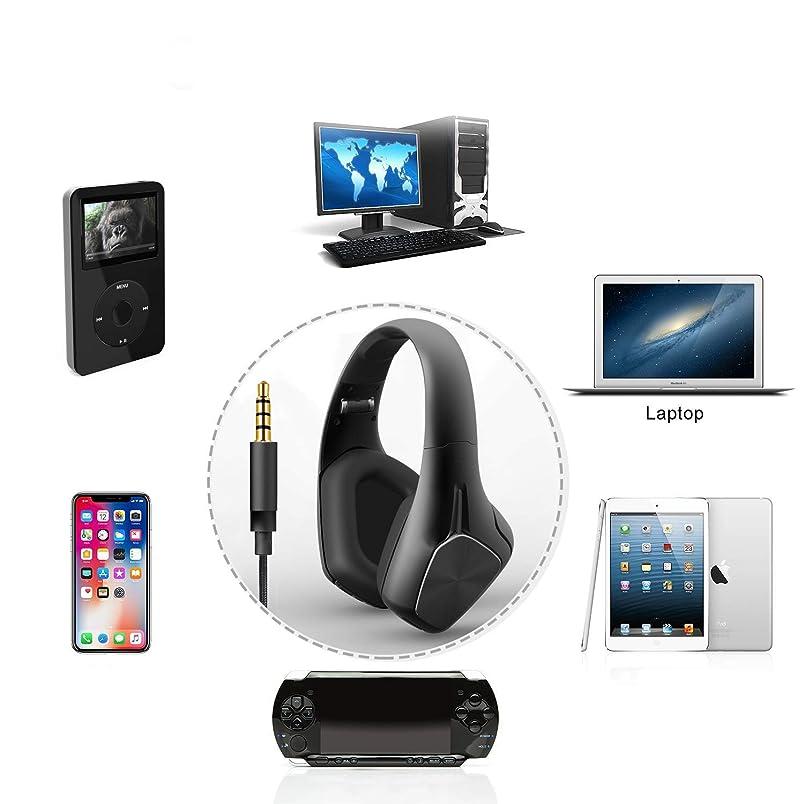 拒絶するしてはいけないハグCITW ノイズリダクションヘッドセット Bluetoothヘッドセット ステレオ 折りたたみ ワイヤレス スポーツ 音楽ヘッドセット デスクトップ PC\MP3/ラップトップ/携帯電話/タブレット/ゲーム