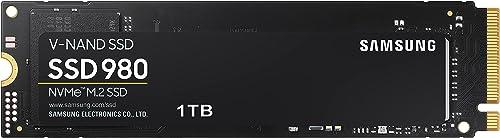 Samsung 980 MZ-V8V1T0BW | Disque SSD Interne NVMe M.2, PCIe 3.0, 1 To, Contrôle thermique intelligent