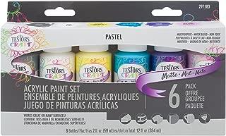 Testors 297583 Craft Acrylic Paint Set, Pastel Matte