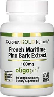 California Gold Nutrition French Maritime Pine Bark Extract Oligopin Antioxidant Polyphenol 100 mg - 60 Veggie Caps