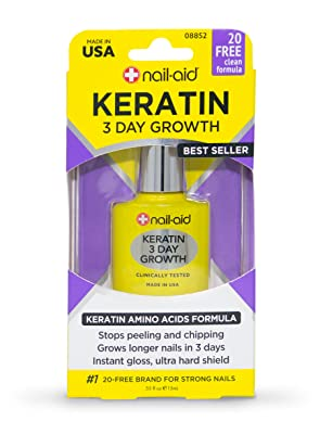 Nail-Aid Keratin 3 Day Growth Nail Treatment & Strengthener
