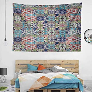 HuaWuChou Complex Floral Design Tapestry, Nature Landscape Tapestry Wall Hanging for Room, 10W x 8L Inches