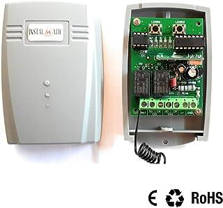 Receptor Universal RX4 para Puertas de Garaje, 2 Canales, 600 usuarios, Mono-Estable/Bi-Estable, 433,92 MHz. para Cualquier Tipo y Marca de Motor o aplicación de Control Remoto.: Amazon.es: Electrónica