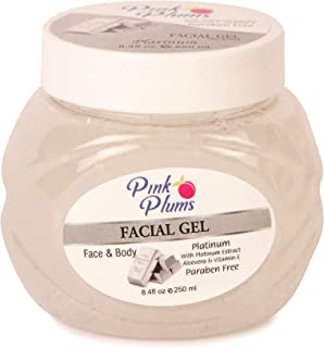 PINK PLUMS Glowing Platinum Facial Gel with Vitamin-E, 250 ml