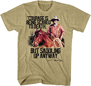 John Wayne Men's Courage T-Shirt Khaki Heather
