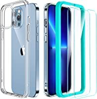 ESR Case and Screen Protector Set Compatible with iPhone 13 Pro, Includes 2-Pack Tempered-Glass Screen Protectors,...