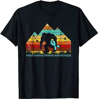 Bigfoot bring MYASTHENIA GRAVIS ribbon funny t-shirt