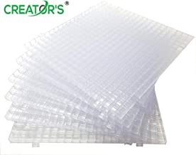 Creator's Waffle Grid 6-Pack Solid Bottom - Translucent/Clear Modular Surface For Glass Cutting, Drying Rack, Small Parts or Liquid Containment. Use At Home, Office, Shop - Works With Creator's Products