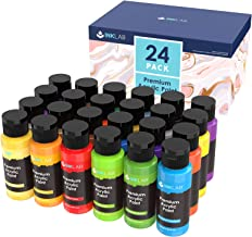 Acrylic Paint Set Non Toxic 24 Vibrant Colors Acrylic Paint No Fading Rich Pigment for Kids Adults Artists Canvas Crafts W...