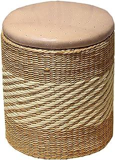 LSX - Almacenamiento Rattan Compile Dormitorio Taburete de Almacenamiento de Cuero Cesta de Zapatos Banco Foyer Taburete S...