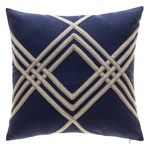 Beige With Blue Pillows Amazon Com