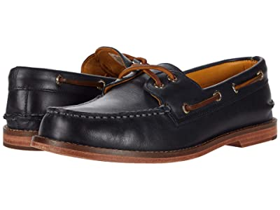 Sperry Gold Cup A/O 2-Eye Leather Sole (Wild Blue) Men