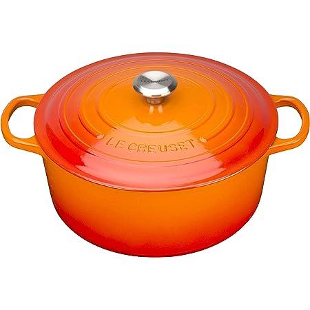 Le Creuset Enameled Cast Iron Signature Round Dutch Oven, 7.25 qt., Flame