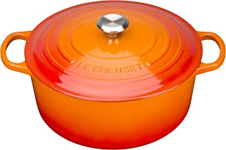 Le Creuset Enameled Cast Iron Signature Round Dutch Oven, 4.5 qt, Flame