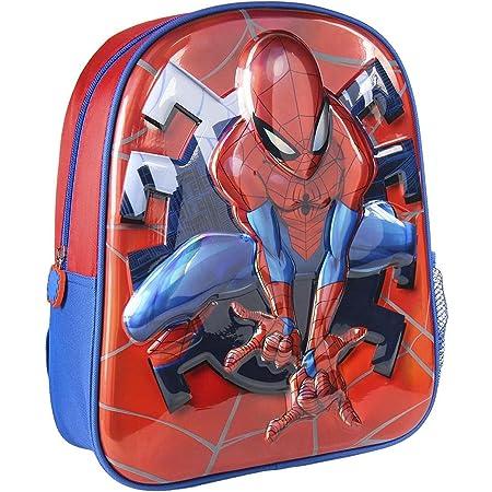Cerdá, Mochila Infantil 1-5 Años de Spiderman con Licencia Oficial de Marvel Studios-Medidas 25 x 31 x 10 cm Unisex niños, Multicolor, 260X310X100MM