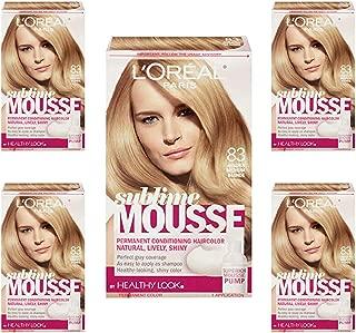 L'Oreal Paris Sublime Mousse by Healthy Look Hair Color 83 Golden Medium Blonde (5-Pack)