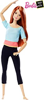 Barbie Made to Move Doll, Blue & Pink Top [Amazon Exclusive]