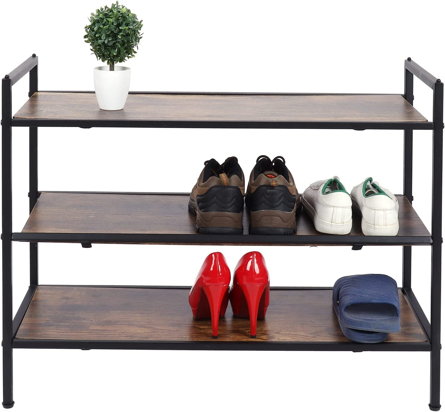 Eulbevoli 3‑Layer Shoe Rack Popular product Shelf to Easy Stackable Install W Japan's largest assortment