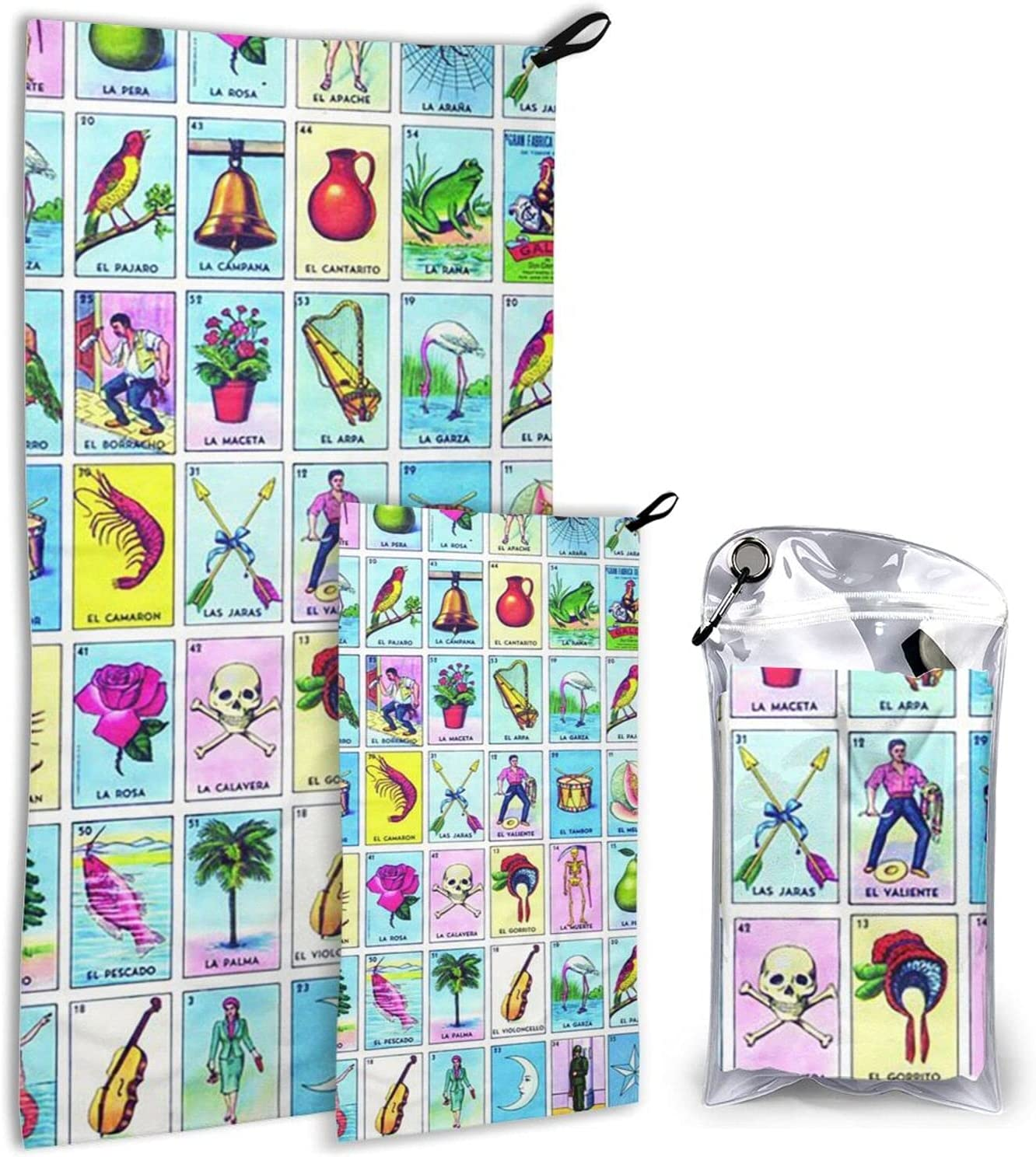 Loteria Colorful Microfiber Towels 2 Max 47% OFF Dry Camping Popular Quick - Pack