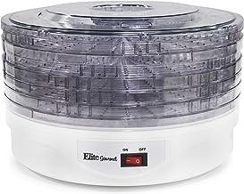 Elite Gourmet EFD-1010 Food Dehydrator, Stackable Transparent 5 BPA-Free Trays for Jerky Herbs Fruit Veggies Snacks, 12.75...