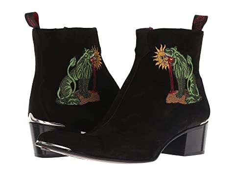 Jeffery-West Sylvian Chimera Embroidered Zip Boot