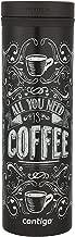 Contigo Thermalock TwistSeal Eclipse - Taza de viaje de acero inoxidable (591 ml), diseño de Biscay Bay, All You Need is Coffee, 20 oz. / 591 ml, 1