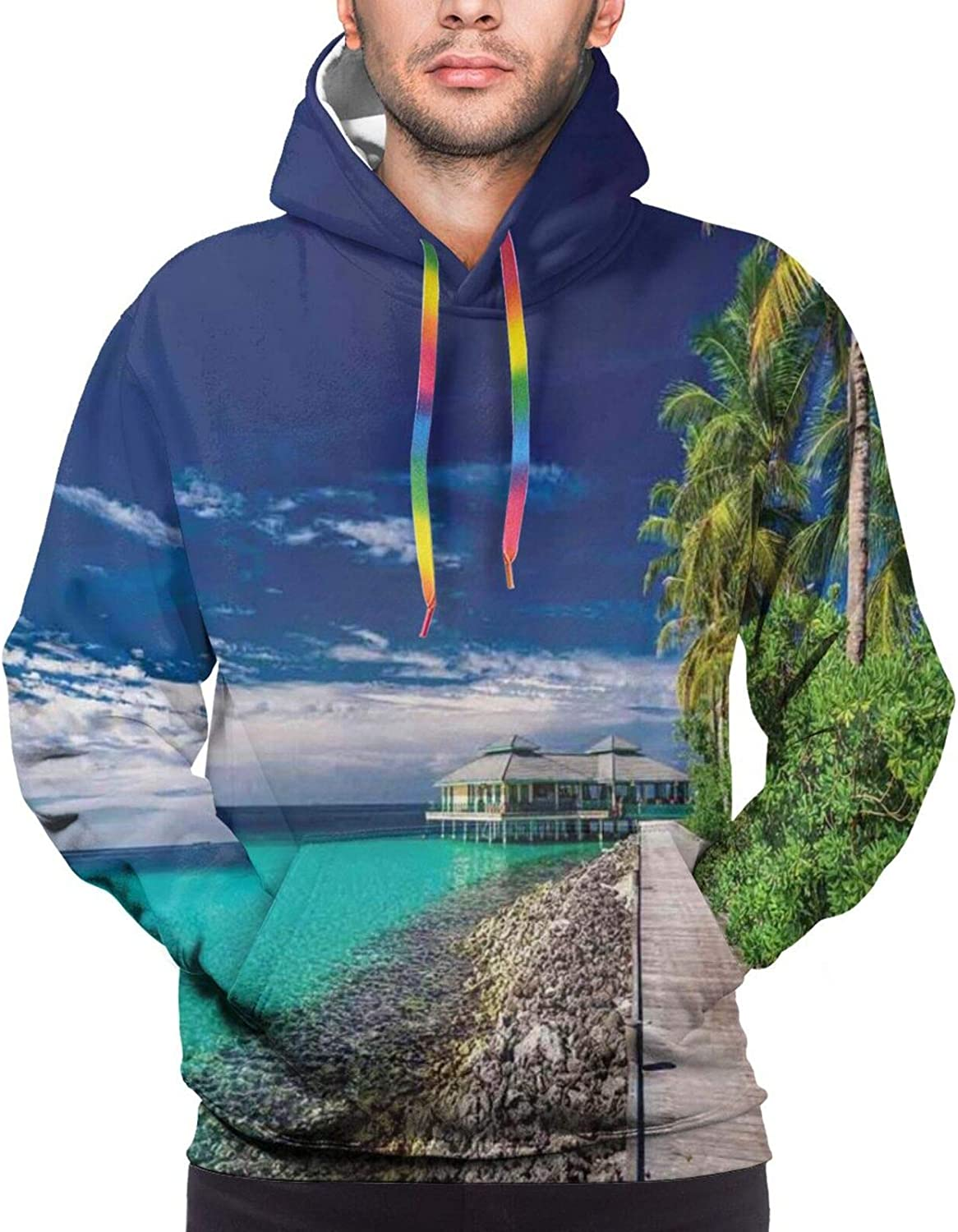Men's Hoodies Sweatshirts,A Wide Variety of String Instruments Realistic Musical Pattern Jazz Blues Acoustic