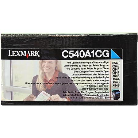 Lexmark C540H1CG C540 C543 C544 C546 X543 X544 X548 Toner Cartridge (Cyan) in Retail Packaging