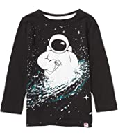 Astronaut and Milkyway Graphic Long Sleeve T-Shirt (Toddler/Little Kids/Big Kids)