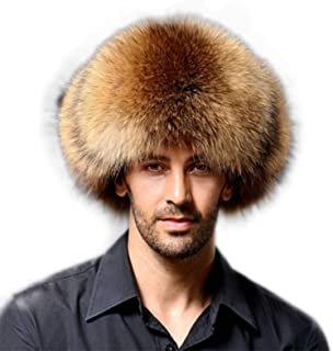 BOW Men Winter Warm Leather Bomber Hat Trooper Trapper Hat Soft Thick Fur  Hat 810e18c7c742