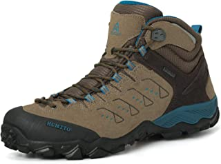 HUMTTO Men high Hiking Boots -Athletic Trail Trekking Outdoor Working Waterproof Breathable Sneakers Backpacking Boot Walking Backpacking Suede Leater