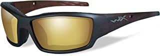 Wiley X 1930584 Wily Tide pol AMB Geld Lens Mat Brno Form Hunting Safety Glasses, Gold