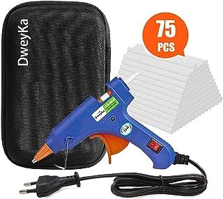 comprar comparacion Pistola de Silicona, Dweyka Mini Pistola de Pegamento 20W, viene una Bolsa y 75 Psc Barras para Manualidades DIY, Arte, Re...