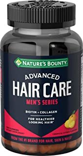 Nature's Bounty Biotin by, Advanced, Men's Series, with mg Collagen, Dietary Supplement, Supports Healthier Looking Hair, ...