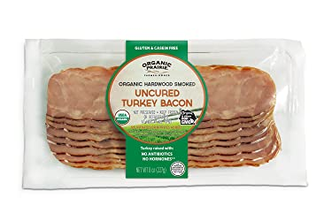 Organic Prairie, Organic Hardwood Smoked Uncured Turkey Bacon, 8oz