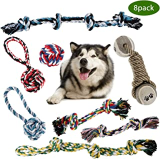 ZOUTOG Dog Toys for Aggressive Chewers, Set of 8 Dog Chew Toys, Indestructible Dog Rope Toy for Small/Medium/Large Dog Pets, for Playtime and Teeth Cleaning
