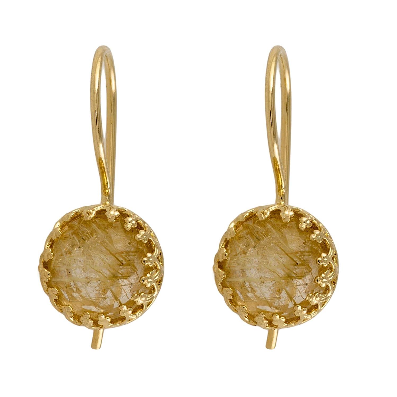 Yellow Topics on TV Quarts Dangle Earrings size Drop Dainty Gemstone Inexpensive
